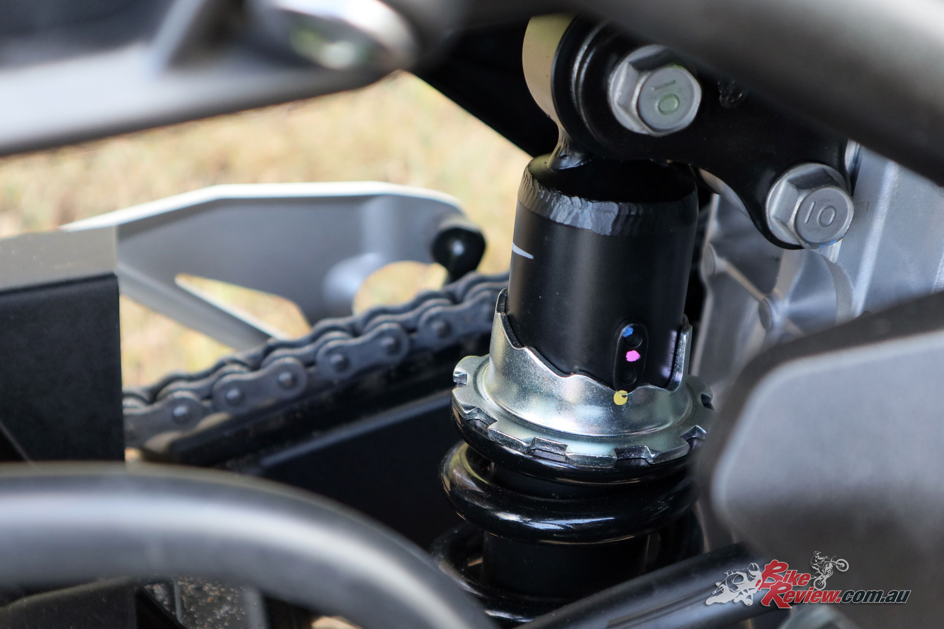 There's only rear preload adjustability, but the front end is extremely well sorted
