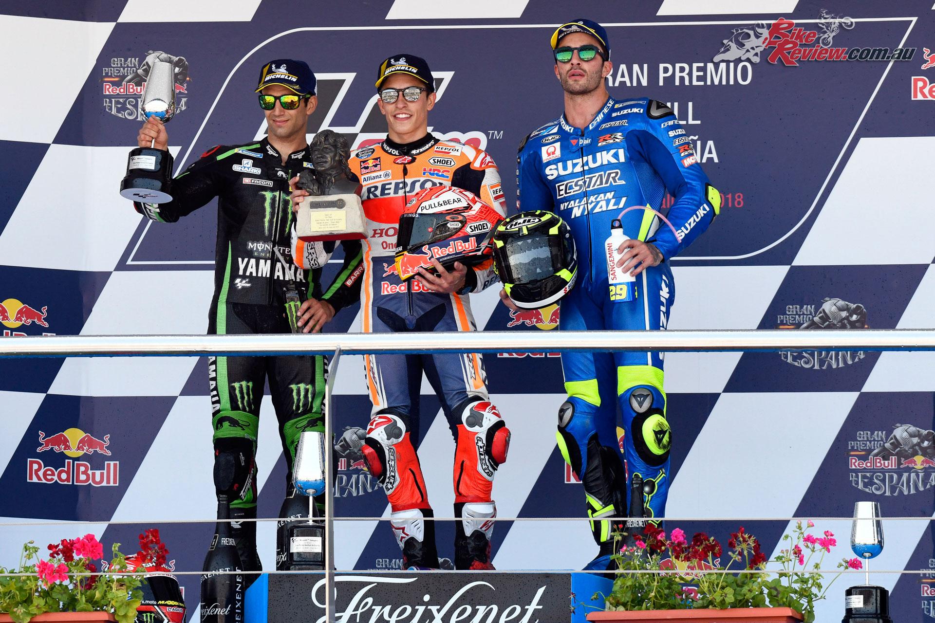 2018 MotoGP Podium - Jerez