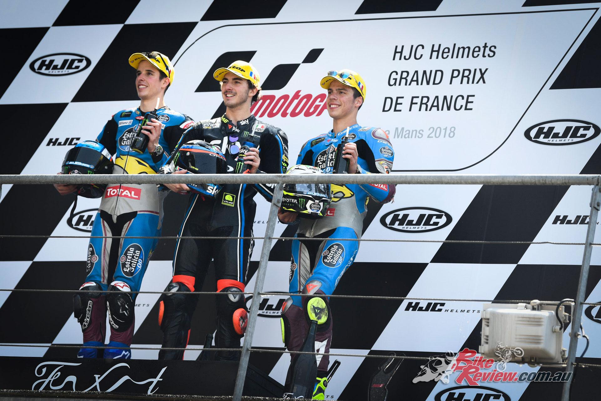 Le Mans Moto2 Podium
