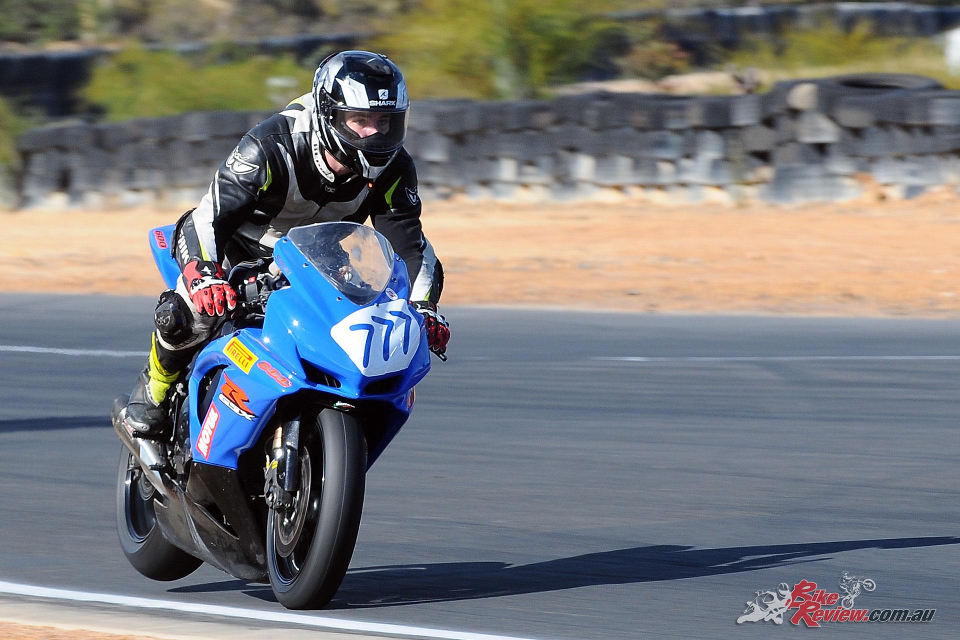 Josh Mathers hard on the brakes into Turn 7