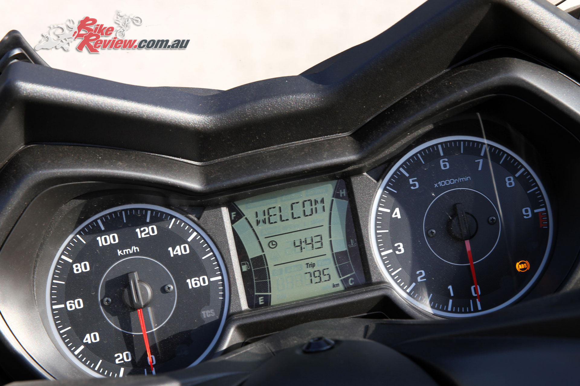 Analogue speedo and tacho frame the digital multi-function display