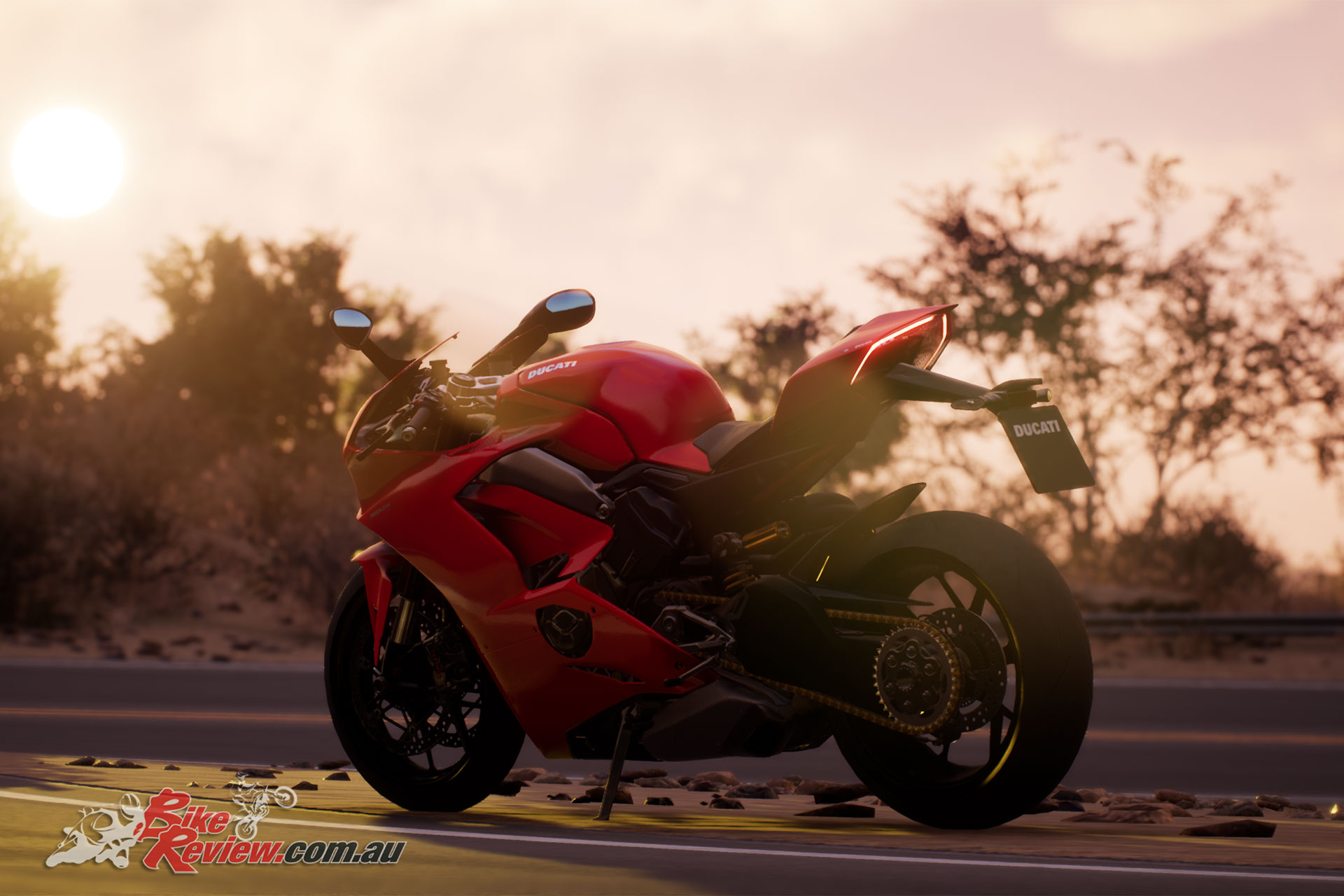 Ducati's Panigale V4, pictured in the game. Check out those graphics!