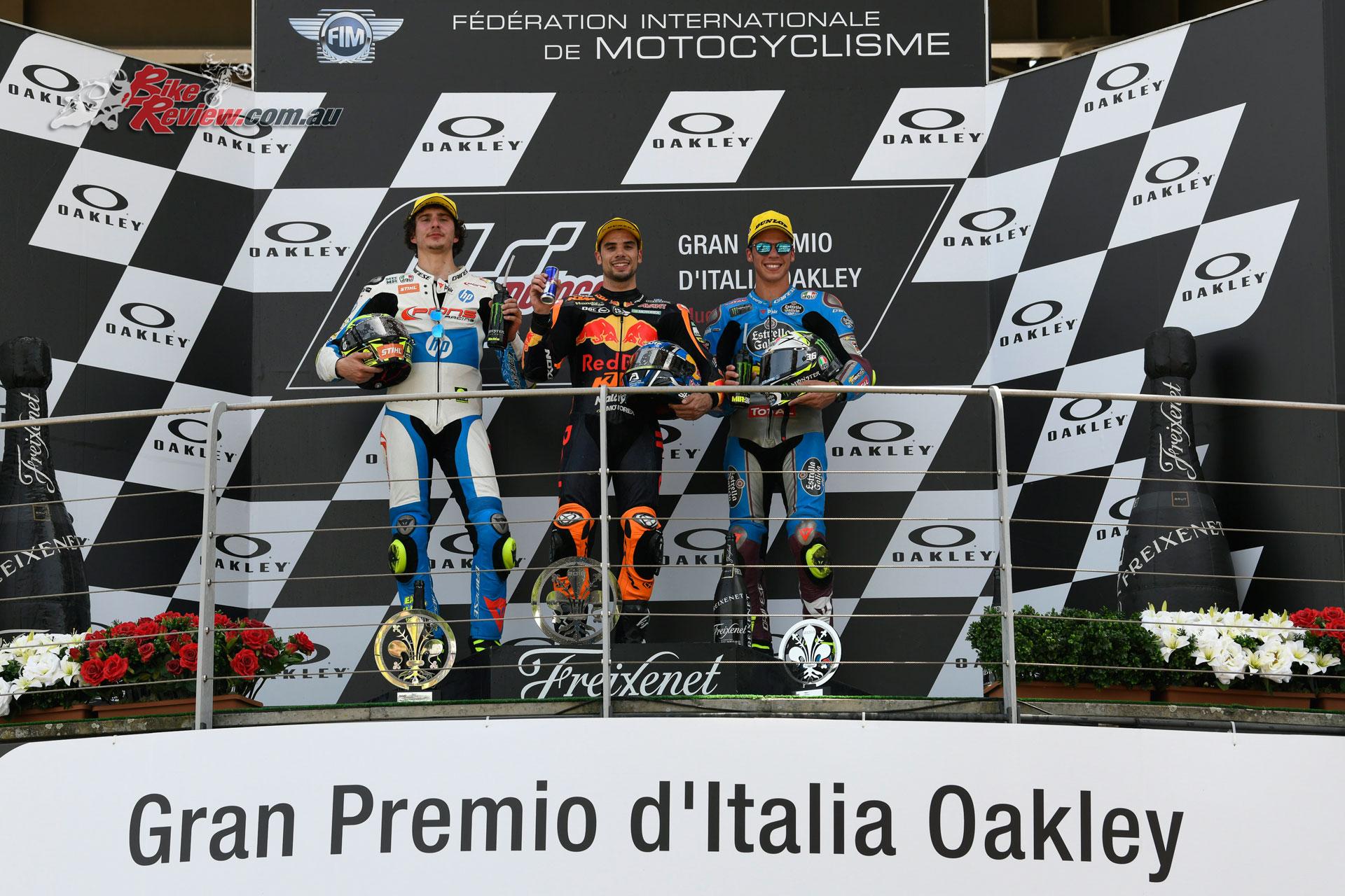 Moto2 Mugello Podium