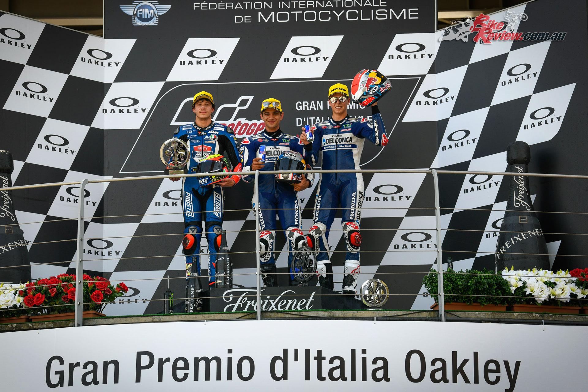 Moto3 Mugello Podium