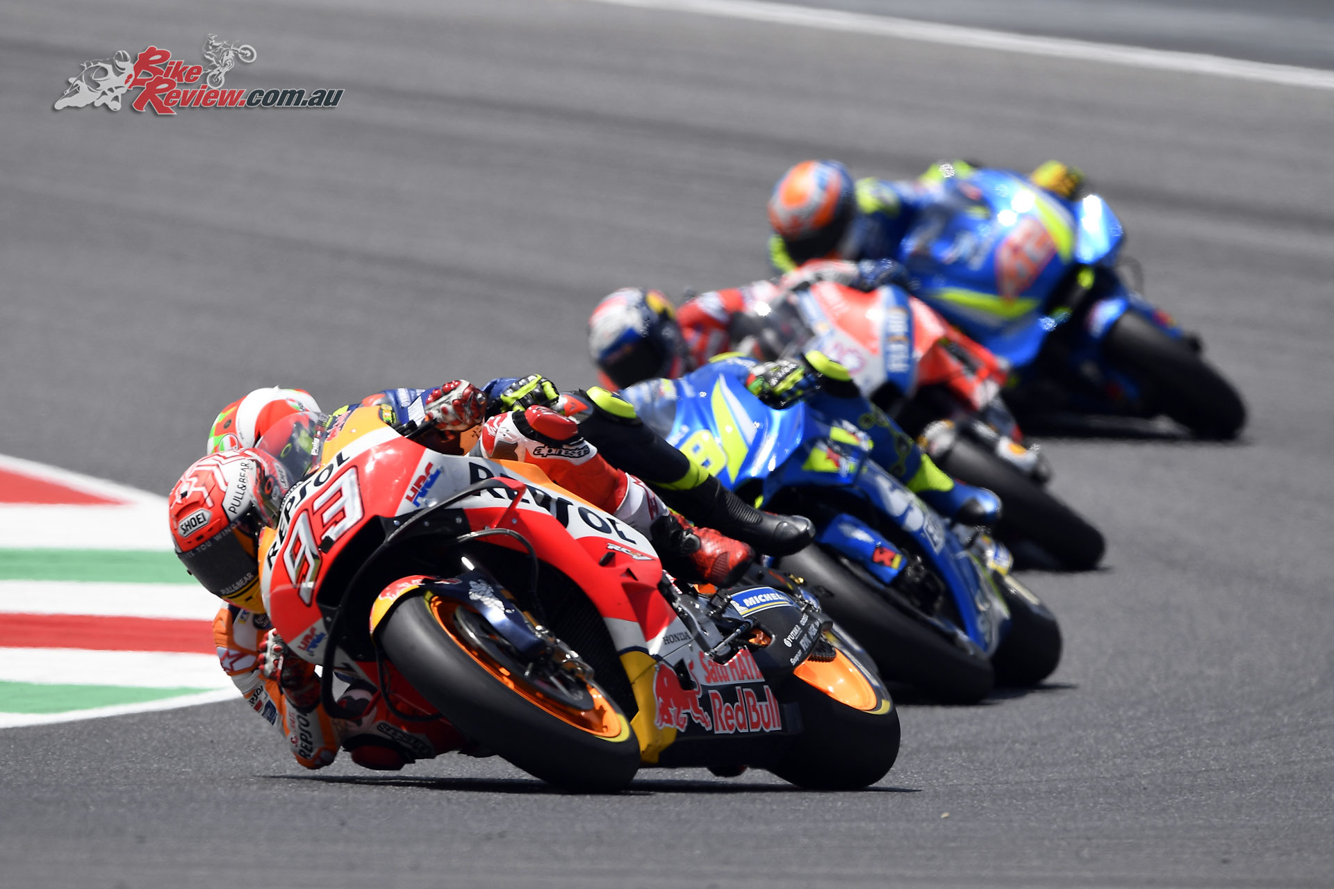 Marc Marquez would crash out of the race and remount but not score points