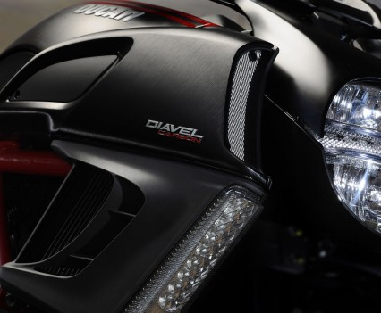 The Diavel's styling is uniquely aggressive and typically Ducati.
