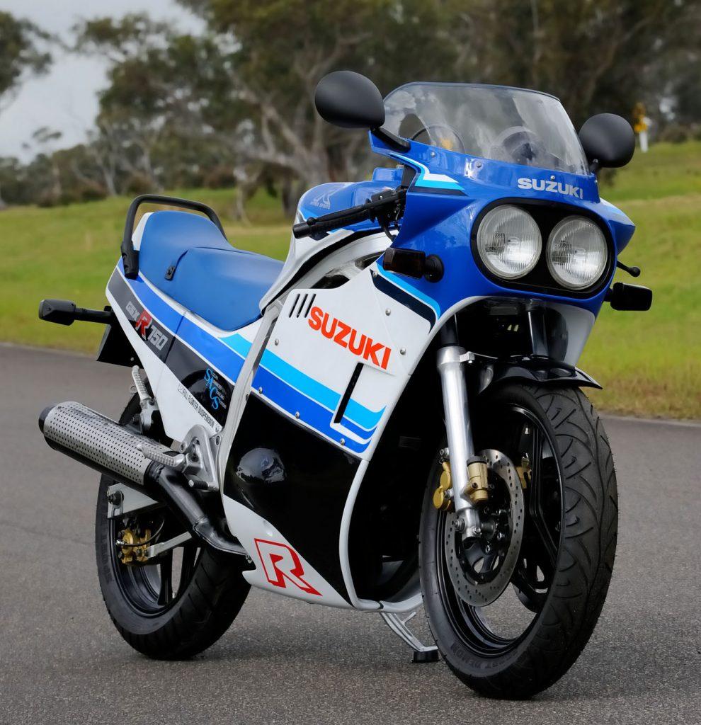 Jeff fully restored this GSX-R750F, the first of three he has done.