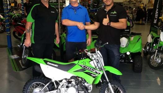 Kawasaki Motors Announce 2015 Sydney Motorcycle Show KLX110 Prize Winner