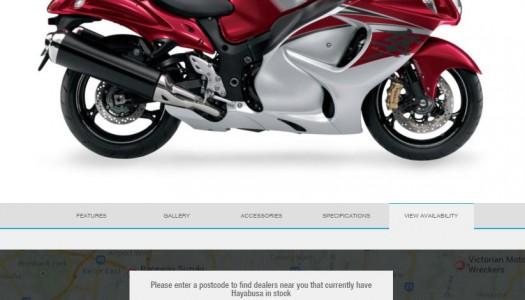 Suzuki Motorcycles Launches Industry Leading Stock Locator