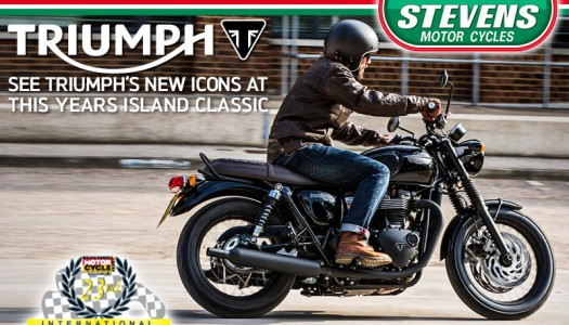 The All New Triumph Bonneville Range at The Island Classic This Weekend!