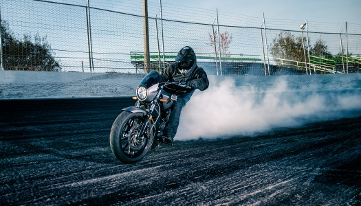 Guinness World Record with 2.23 mile burnout on the new Victory Octane