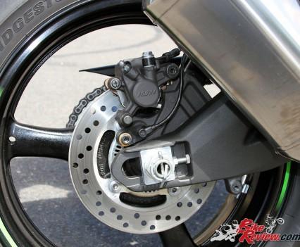 2016 Kawasaki ZX-10R - Rear brakes offer good control and modulaton