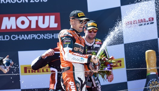 Amazing win by Chaz Davies for the Aruba.it Racing – Ducati team in Aragon