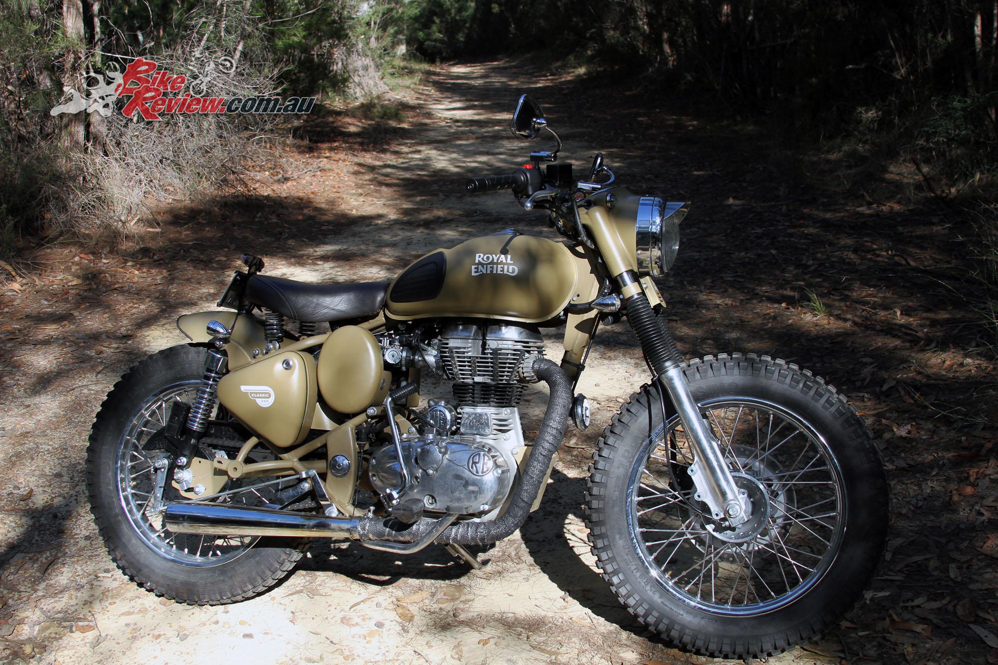 Custom Royal Enfield Custom Desert Storm Bike Review