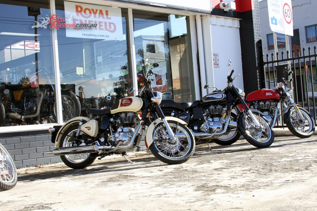 Royal Enfield Sydney is also asking customers that they do not bring friends or family members with them.