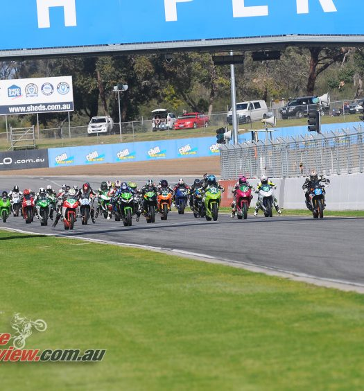 THE PRODUCTION FIELD OF 33 STARTERS  - Bike Review