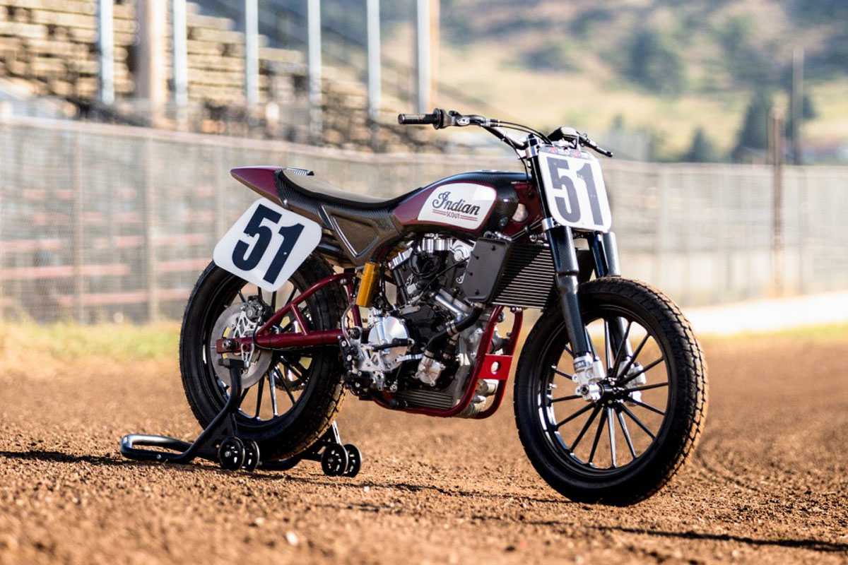 Indian's FTR 750 racer has seen enormous success in the American Flat Track series this year