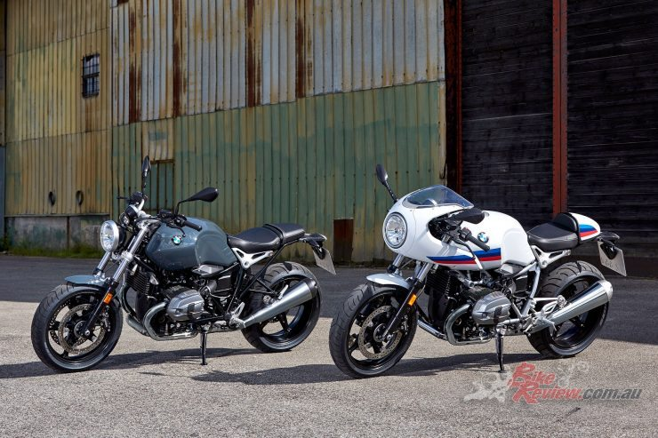 2017 BMW R nineT Pure (left) and Racer (right)