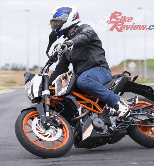 The KTM RC390 is nimble, agile and a fun little machine to learn on.
