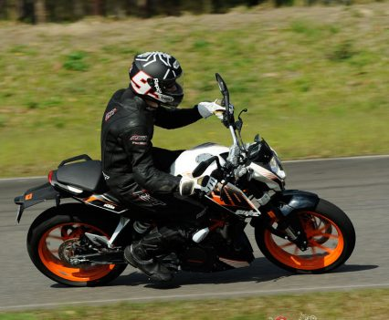 The 390 Duke is a nimble handling bike that is as awesome fun in the twisties or on a track day as it is around town.
