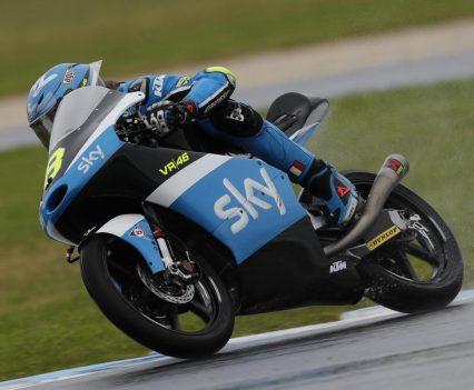 Phillip Island MotoGP 2016, Bulega tops wet FP1, Image: MotoGP.com