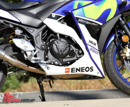 2016 Yamaha YZF-R3 - Liquid-cooled, DOHC, inline twin-cylinder, eight-valve four stroke powerplant with 42hp