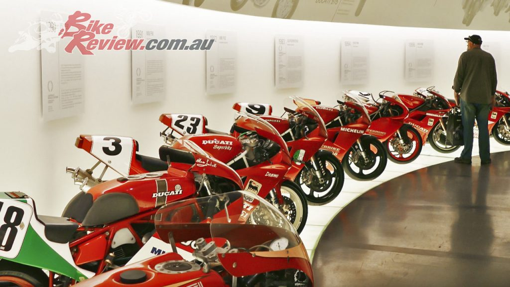 The freshly renovated Ducati Museum at the Ducati factory in Bologna is a must stop place for Ducatisti.