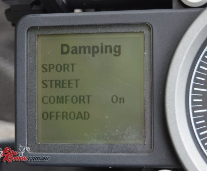 2016 KTM 1290 Super Adventure - dash damping options