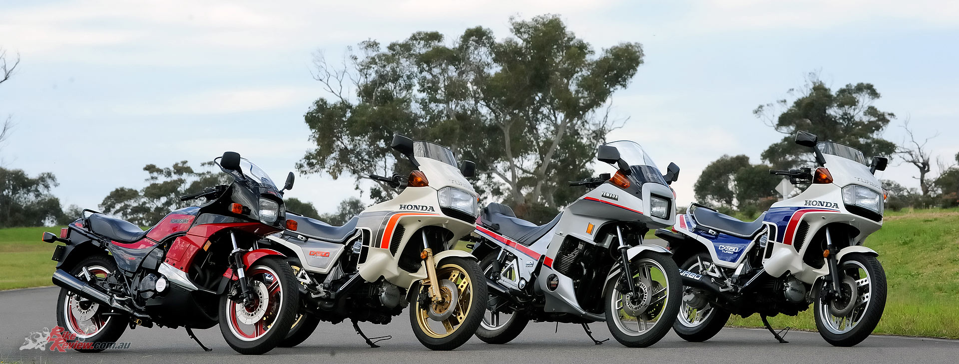 The turbo era was short lived but hopefully with the interest in the new Kawasaki H2 and H2R a new forced induction era is on the way. These four (L-R GPz750 Turbo, CX500 Turbo, XJ650 Turbo, CX650 Turbo) are the best of the pick from the 1980s. The missing machine, Suzuki's XN85, was the lemon of the bunch.