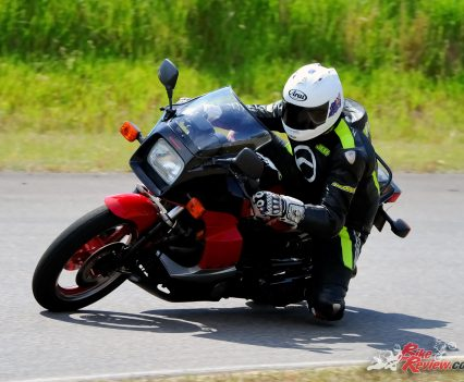 The GPz is big and long and quite heavy. It's chassis is sporty but not on par with the Hondas. The top end power makes up for it.