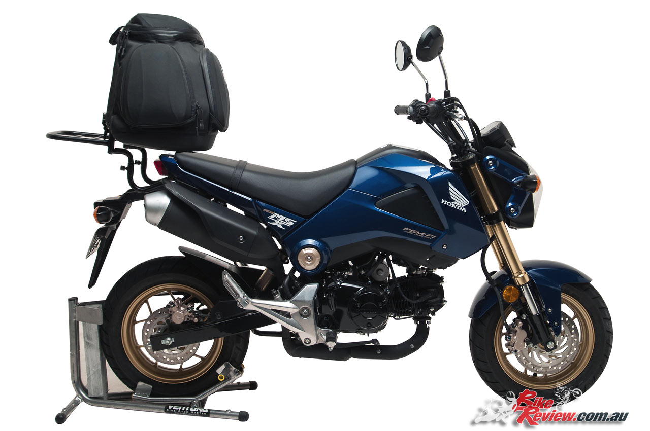 ventura luggage systems for honda grom bike review. Black Bedroom Furniture Sets. Home Design Ideas