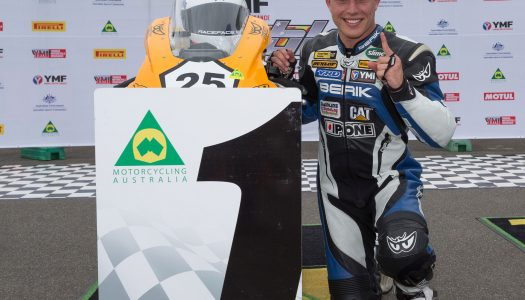 Falzon Opens 2017 ASBK Account with Race One Victory