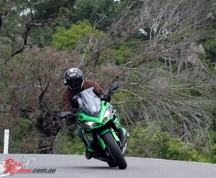 2017 Kawasaki Ninja 1000 - Punting the Ninja along at speed is rewarding although the front end does lend itself to a slightly different riding style