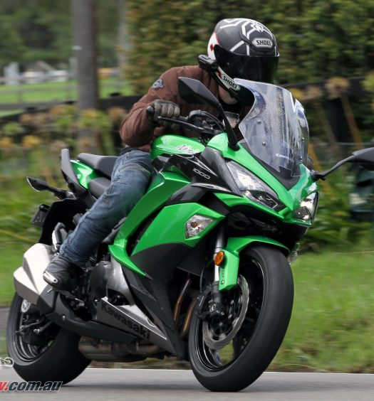 2017 Kawasaki Ninja 1000 - Wind protection from the screen and wider fairings are great