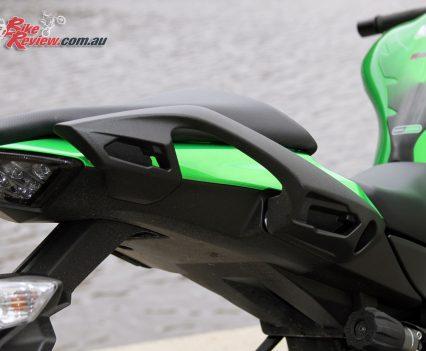 2017 Kawasaki Ninja 1000 - Rear grab rails incorporate the pannier mount system