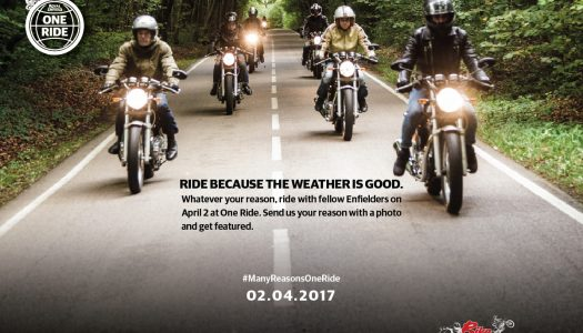 Royal Enfield One Ride to be held on April 2, 2017