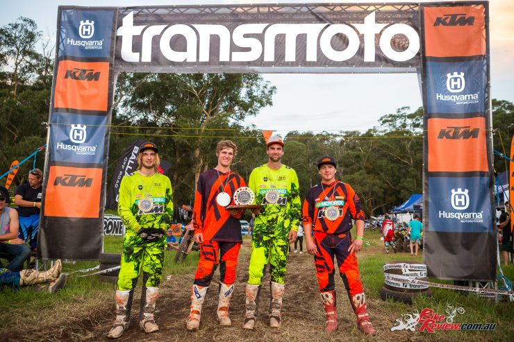 The winning KTM Off-Road Team of (from left) Daniel Milner, Harry Norton, Lyndon Snodgrass and Glenn Kearney came away with the chocolates, as well as some valuable shakedown time.