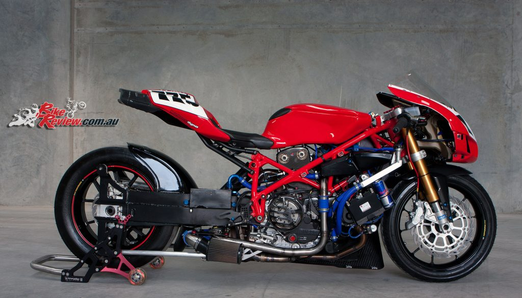 Custom Ducati 749 Turbo Dragster