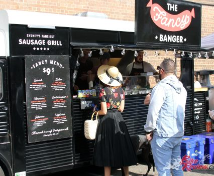 2017 Throttle Roll - There was some creative food stand names, like 'The Fancy Banger'