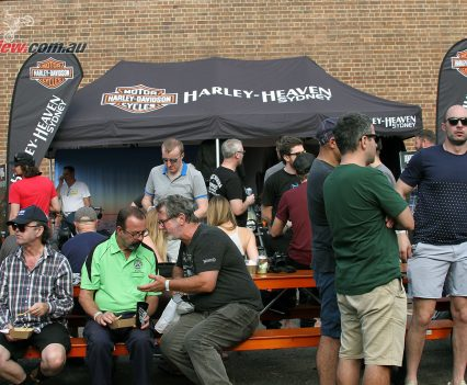 2017 Throttle Roll - The new Harley-Davidson Street Rod 750 was on display