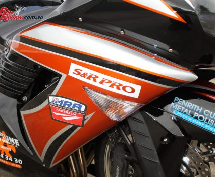 Custom Pro-Tune nine-second Kawasaki ZX-14 - Decals by Excite Signs at Penrith