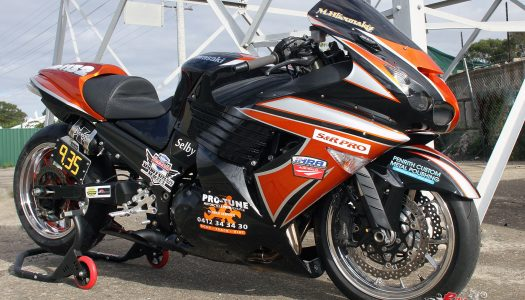Custom: Nine-second ZX-14 Dragster 'Toothless'