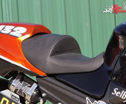 Custom Pro-Tune nine-second Kawasaki ZX-14 - The redesigned seat ensures there's no sliding back under hard acceleration