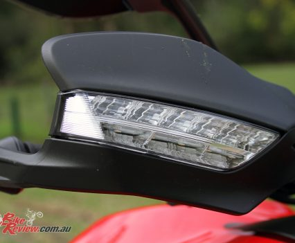 The Ducati Multistrada 950 hand guards include indicators