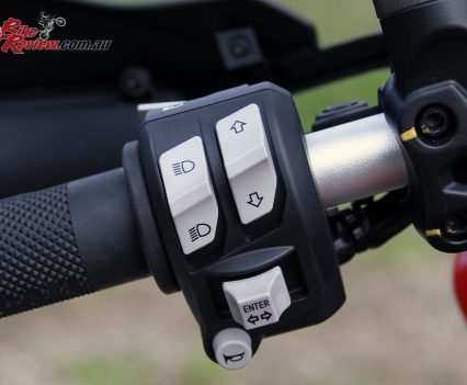 Ducati Multistrada 950 left switchblock controls the electronics package