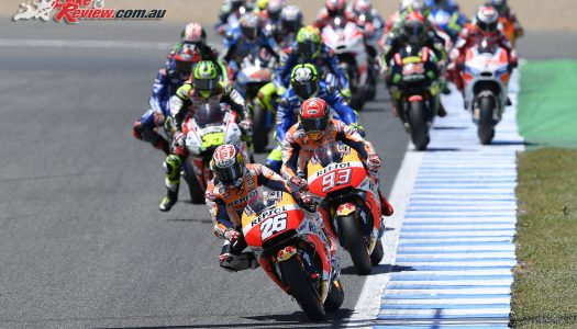 Motegi starts the final MotoGP stopwatch