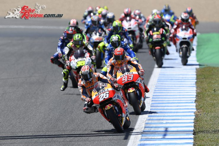Pedrosa leads Marquez and the rest of the MotoGP field at Jerez