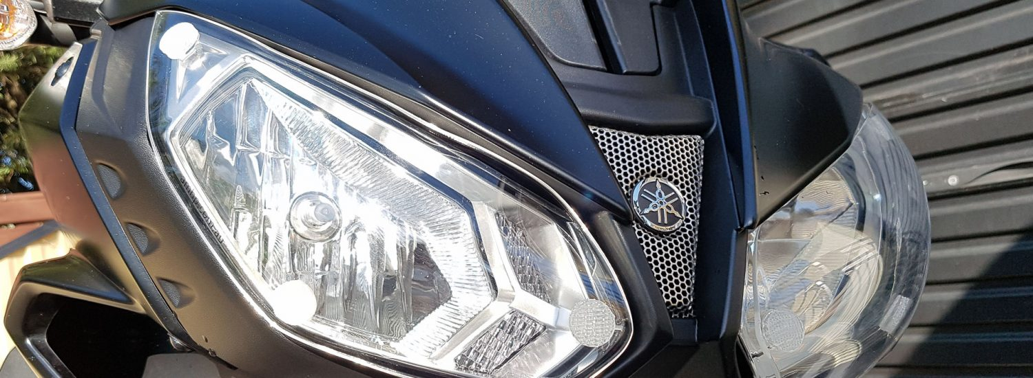 AMHP Headlight Protectors fitted to our long term MT-07 Tracer