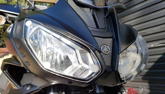 Staff Bikes: AMHP headlight protectors on the MT-07 Tracer