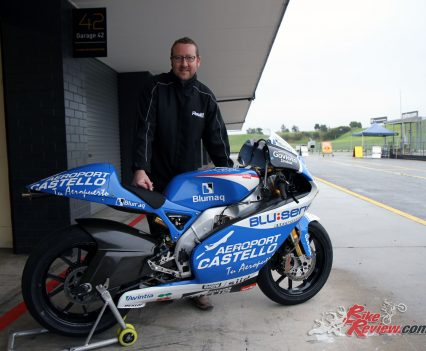 Jeff with the bike at Sydney Motorsport Park.